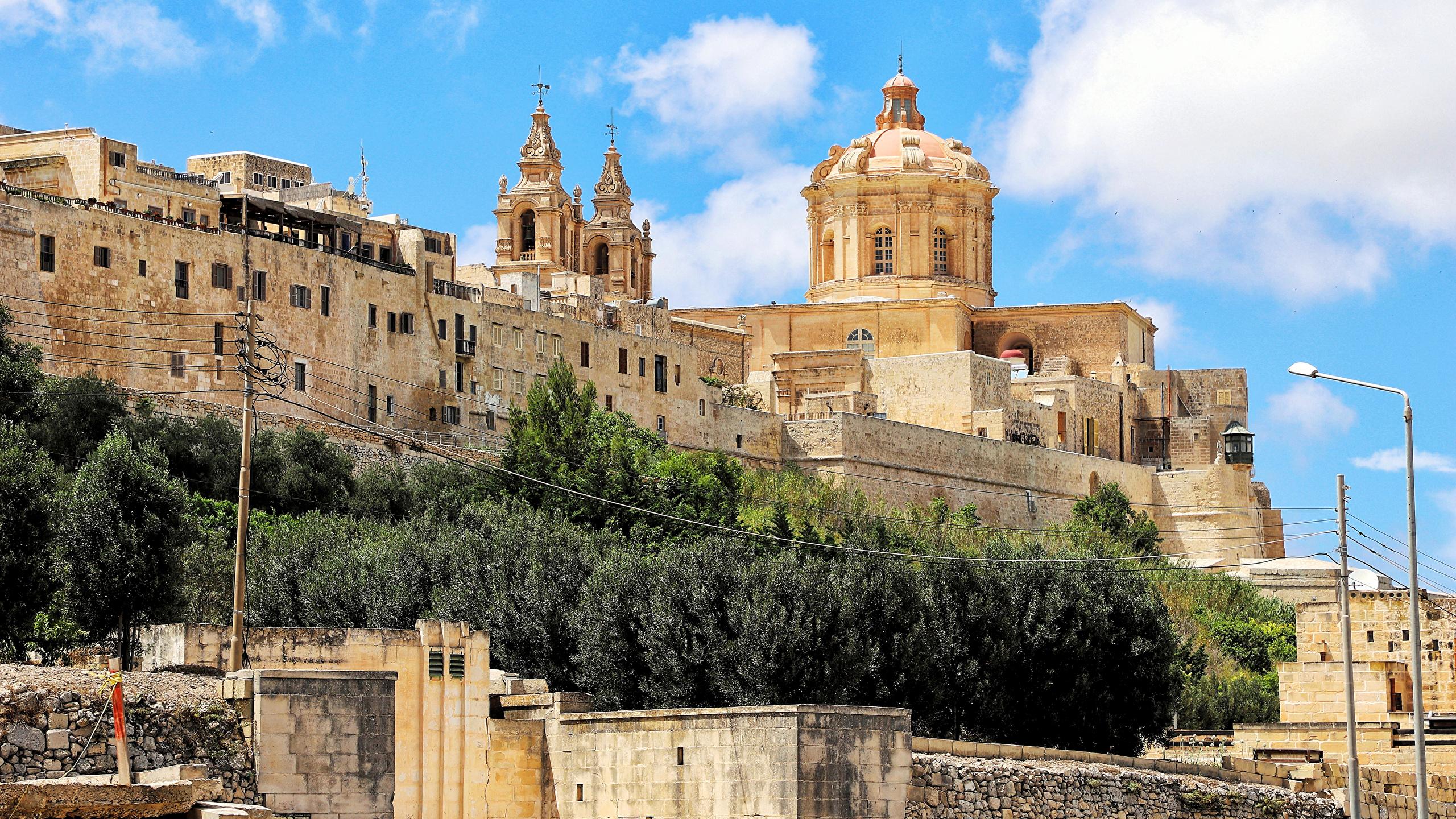 Pictures Malta Mdina Cities Building 2560x1440 Images, Photos, Reviews