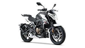 Bilder Seitlich Weißer hintergrund Voge 300 R, 2020 Motorräder