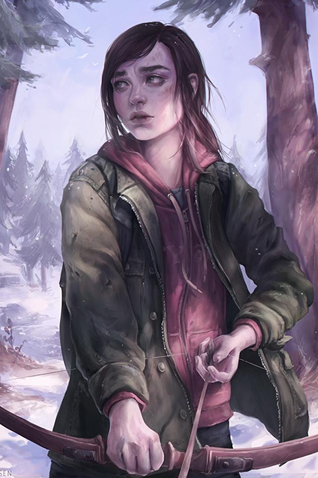Pictures The Last Of Us Archers Fanart Bow Weapon Ellie 640x960