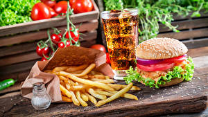 Fotos Fast food Fritten Bier Burger Trinkglas