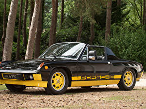 Hintergrundbilder Porsche Retro Fahrzeugtuning Schwarz Metallisch Roadster 1974 914 Limited Edition automobil