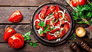 Hintergrundbilder Salat Gemüse Tomate Bretter