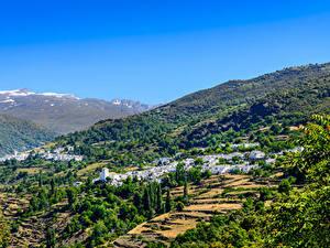 Hintergrundbilder Spanien Haus Acker Dorf Hügel Alpujarras Granada