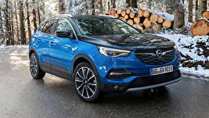Fotos Opel Hellblau Metallisch Hybrid Autos 2019-20 Grandland X Hybrid4