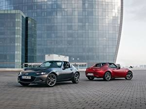 Hintergrundbilder Mazda Zwei Metallisch Roadster 2016-17 MX-5 RF Worldwide automobil