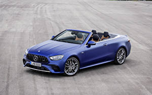 Bilder Mercedes-Benz Cabrio Blau Metallisch E 53 4MATIC, Cabrio Worldwide, A238, 2020 Autos
