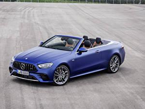 Bilder Mercedes-Benz Cabrio Blau Metallisch E 53 4MATIC, Cabrio Worldwide, A238, 2020
