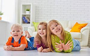Bilder Drei 3 Junge Kleine Mädchen Freude Hand Kinder