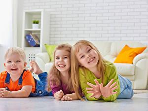 Bilder Drei 3 Junge Kleine Mädchen Glücklich Hand Kinder