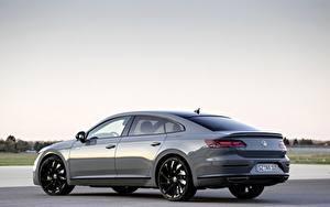 Hintergrundbilder Volkswagen Seitlich Graue Metallisch 2020, Arteon, 4Motion, R-Line Edition auto