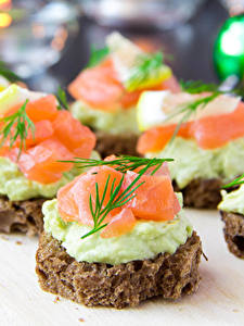 Pictures Fast food Butterbrot Bread Fish - Food