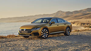 Pictures Volkswagen Yellow 2019 Arteon 4MOTION R-Line Cars