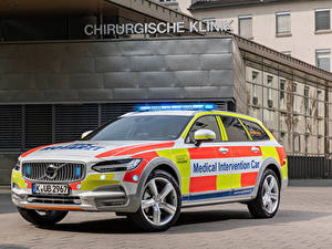Fotos Volvo Fahrzeugtuning Kombi 2019 V90 Cross Country Medical Intervention Car Autos