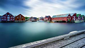 Pictures Norway Lofoten Houses Marinas Bay Cities
