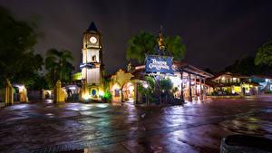 Hintergrundbilder USA Disneyland Park Gebäude Kalifornien Anaheim Nacht Design HDRI Lichtstrahl Städte