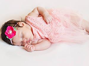 Bilder Grauer Hintergrund Baby Schlaf Kinder