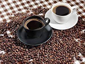 Fotos Kaffee Tasse Untertasse Getreide
