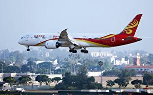 Bilder Boeing Flugzeuge Verkehrsflugzeug Flug B 787