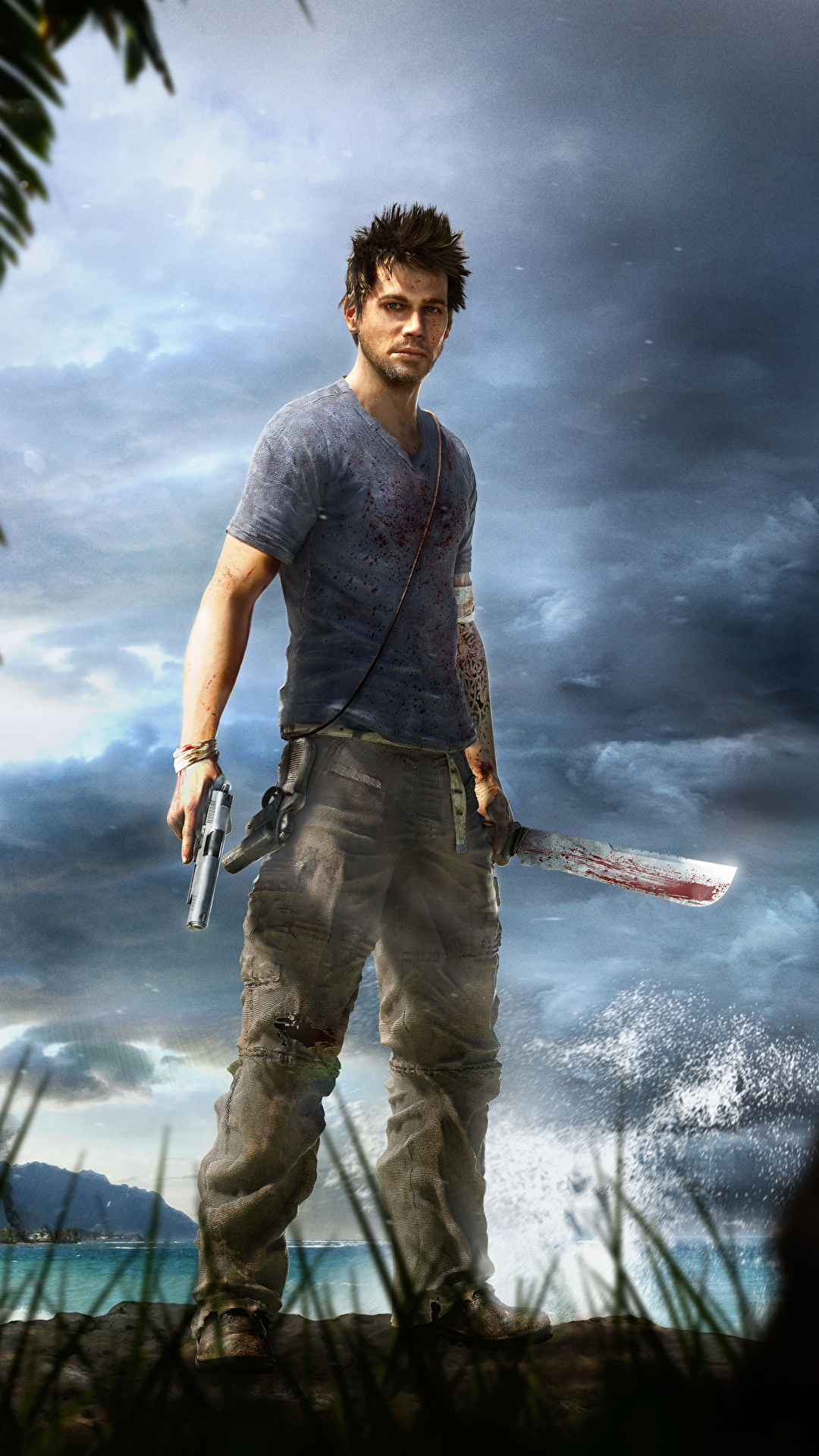 Images Far Cry 3 Pistol Guy Jason Brody Games 1080x1920