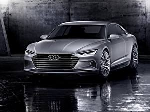 Bilder Audi Graue Metallisch Coupe 2014, Prologue, Concept auto