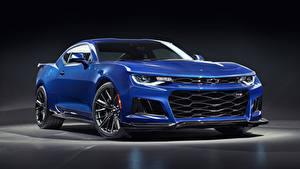 Picture Chevrolet Light Blue Blue 2019 Camaro ZL1 automobile