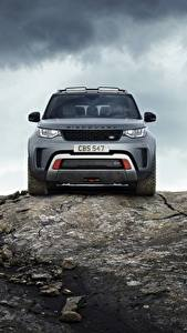 Wallpapers Stones Range Rover Crag Front Gray Metallic Sport utility vehicle Discovery 4x4 2017 V8 SVX 525 Cars