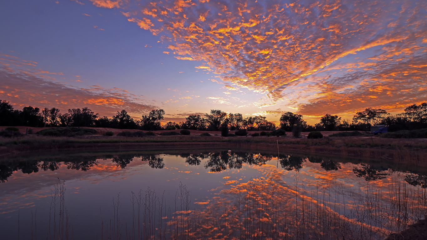 Photo Australia Gluepot Nature Sky Lake Sunrise And Sunset