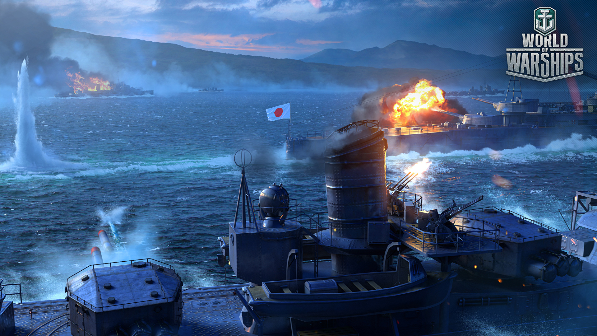 Photos World Of Warship Japanese Ship Vdeo Game Army 1920x1080