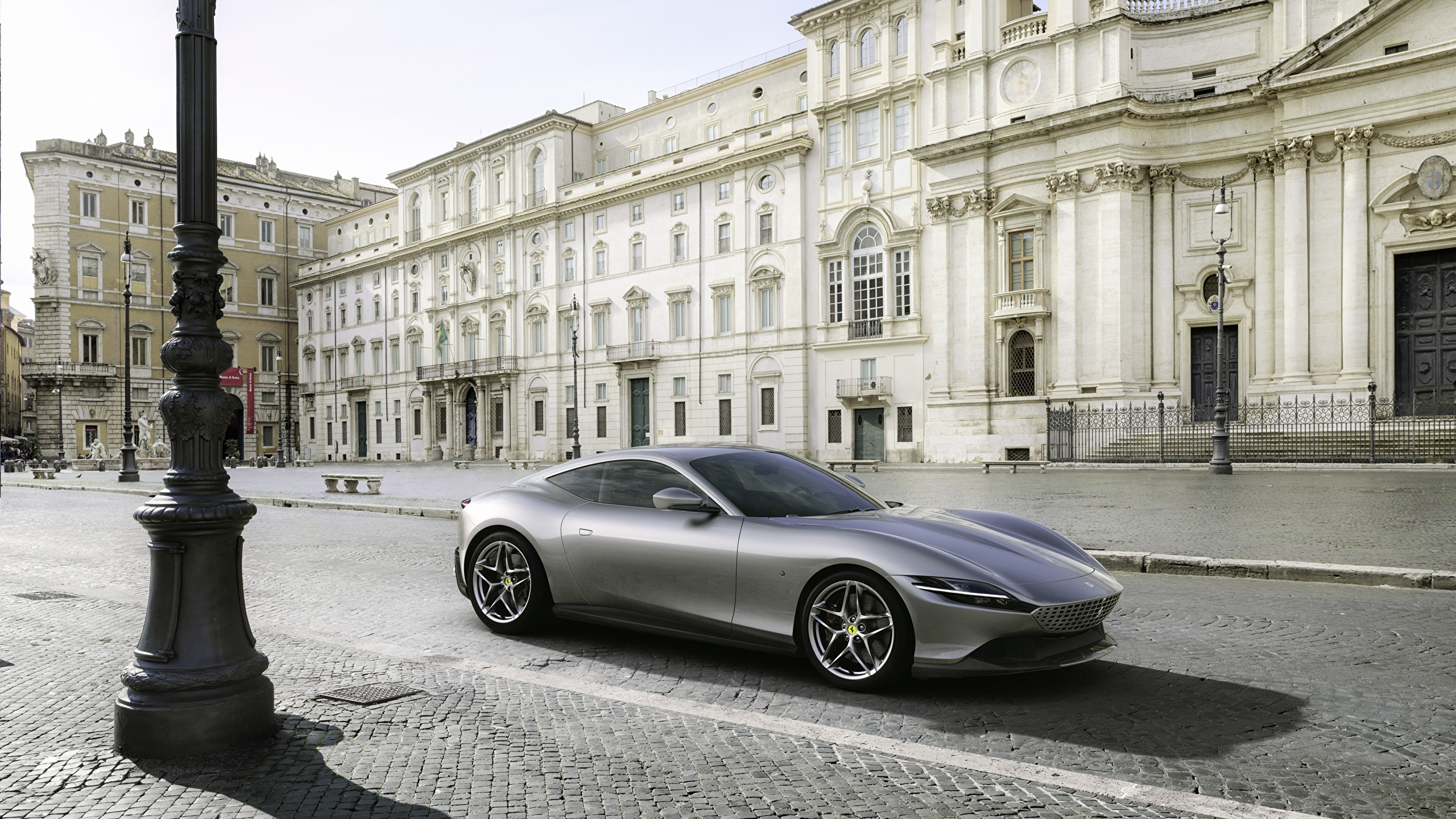 Fondos De Pantalla 2560x1440 Ferrari Roma 2020 Gris Metalico Coupe Coches Descargar Imagenes