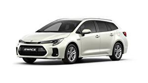 Hintergrundbilder Suzuki - Autos Kombi Metallisch Weißer hintergrund Swace, 2020 Autos