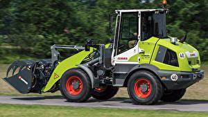 Fotos Landwirtschaftlichen Maschinen Seitlich 2018-19 Claas Torion Sinus 644