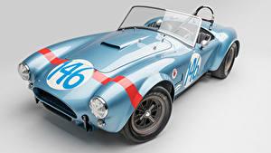 Bilder Shelby Super Cars Antik Grauer Hintergrund Hellblau Cabrio Roadster 1964 Shelby Cobra 289 FIA Competition