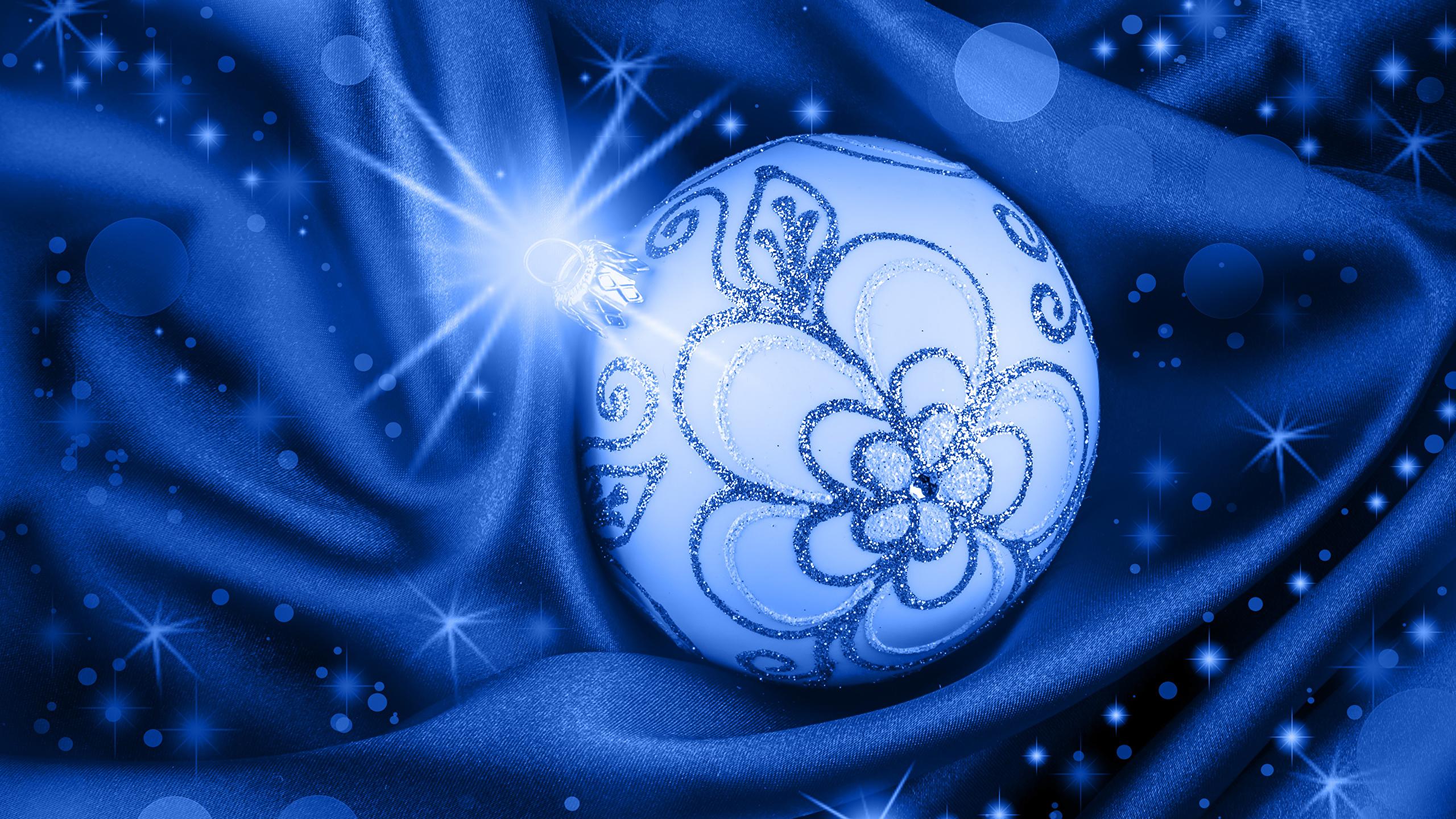 Fonds Decran 2560x1440 Nouvel An Boules Rayons De Lumière