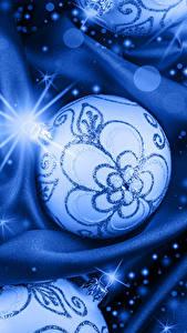 Fotos Neujahr Kugeln Lichtstrahl Hellblau