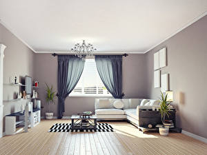 Bilder Innenarchitektur Design Wohnzimmer Sofa Kronleuchter