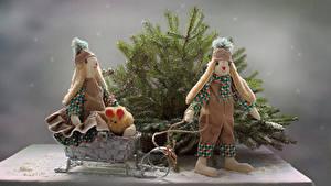 Fotos Ast Puppe Zwei Schlitten Mütze
