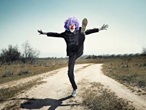 Hintergrundbilder Mann Clowns Bein