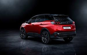 Hintergrundbilder Peugeot Crossover Rot Metallisch 3008 GT, 2020 automobil