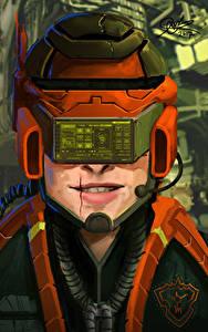 Bilder Kopf Helm Pilot Fantasy
