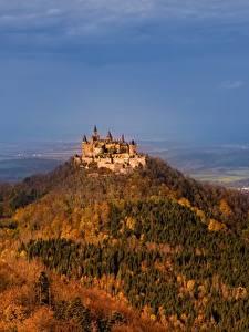 Hintergrundbilder Burg Deutschland Berg Hohenzollern Castle Hechingen