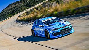 桌面壁纸,,大众汽车,改装车,天蓝色,运动,2020 Golf GTI GTC,