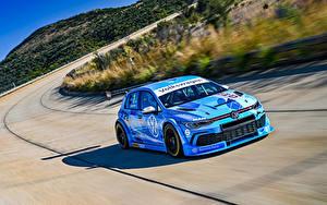 Bakgrundsbilder på skrivbordet Volkswagen Tuning Ljusblå Går 2020 Golf GTI GTC