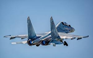 Pictures Airplane Fighter Airplane Sukhoi Su-30 Flight Russian SM Aviation