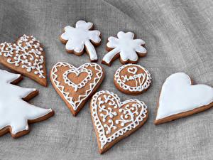 Hintergrundbilder Neujahr Kekse Design Tannenbaum Herz das Essen