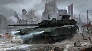 Fotos Armored Warfare Panzer Russische Foggy Armata Spiele
