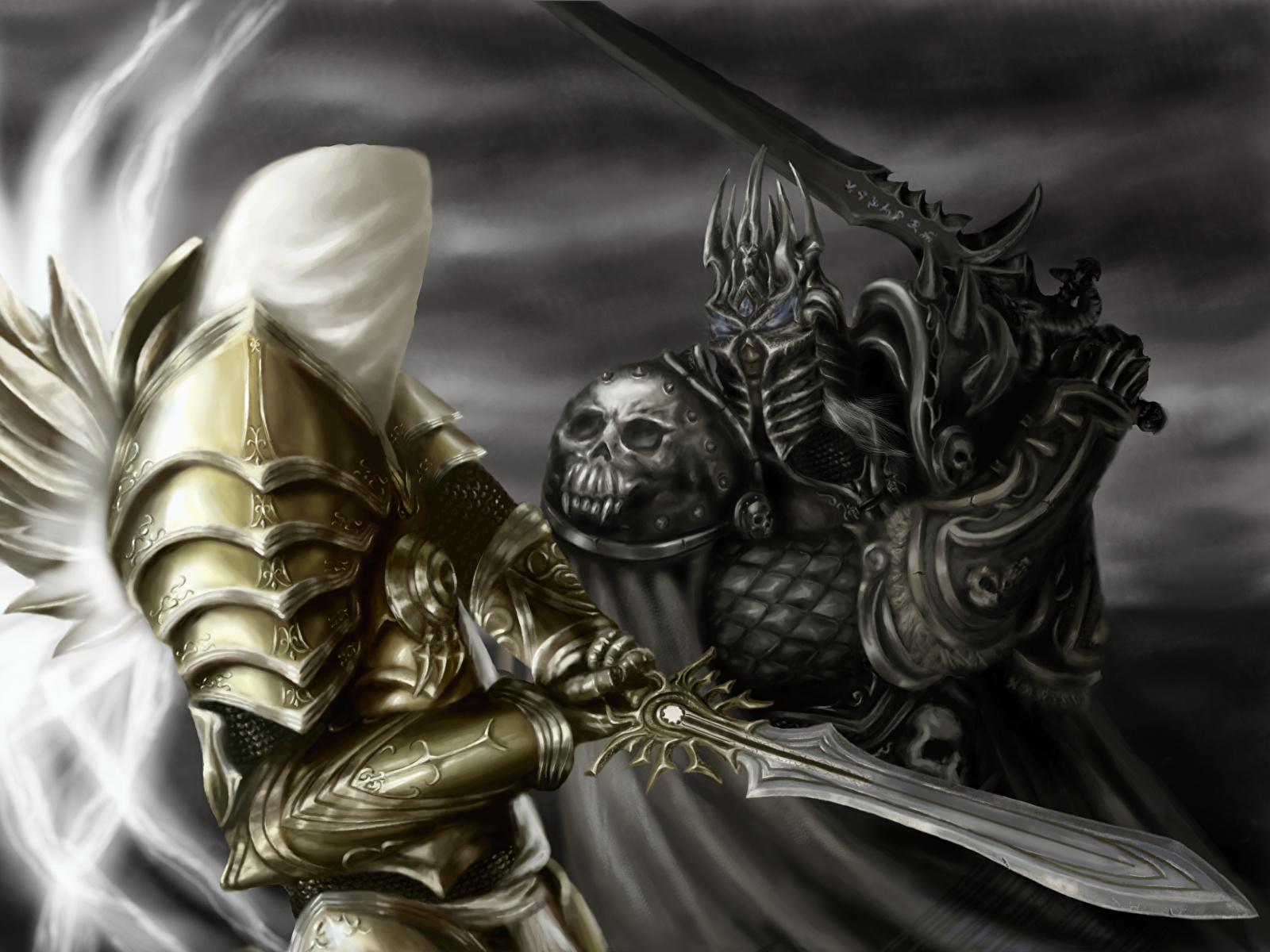Wallpaper Heroes Of The Storm Armor Swords Warrior Lich