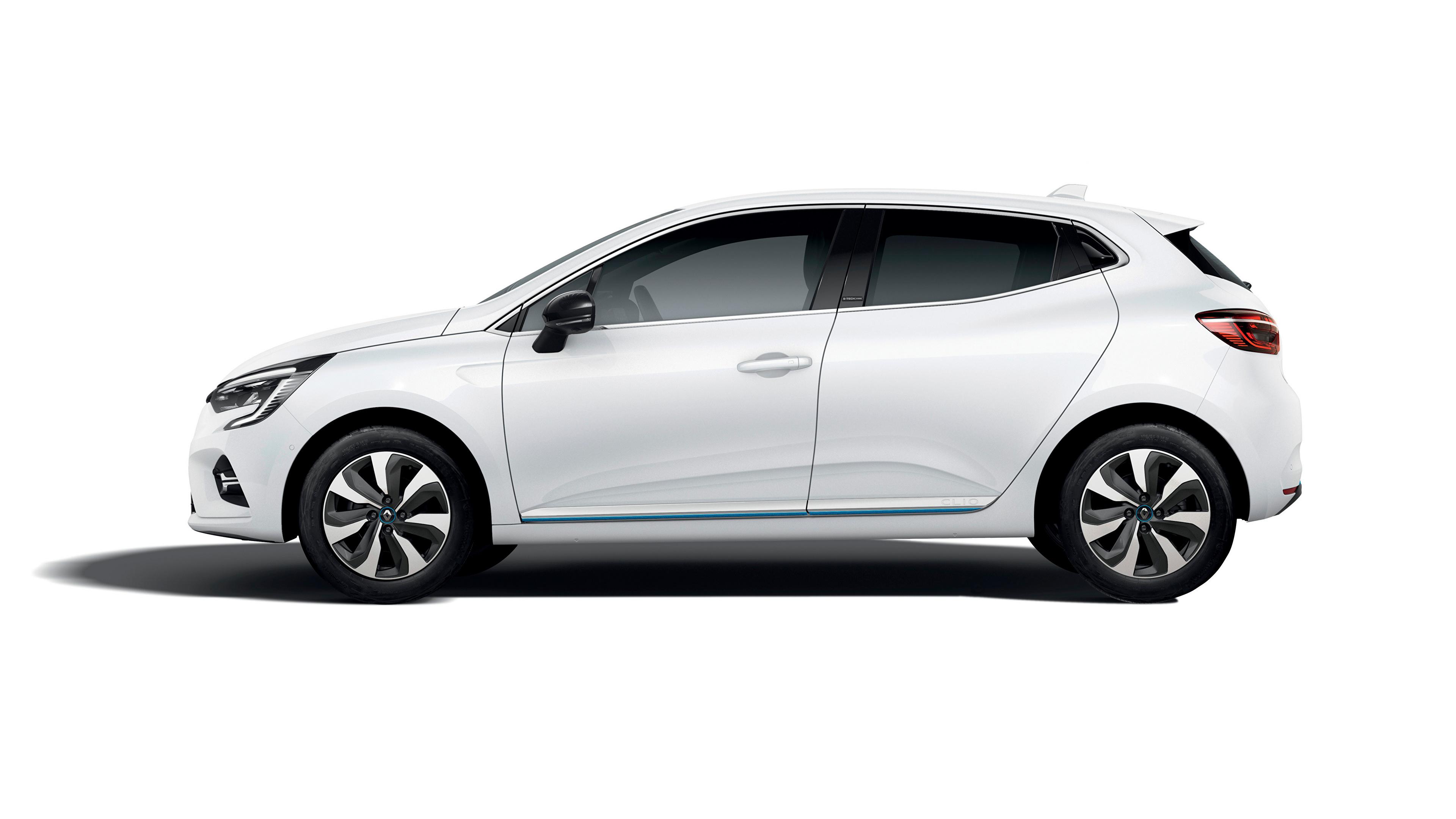Papeis De Parede 3840x2160 Renault Clio E Tech 2020 Branco Metalico Lateralmente Carros Baixar Imagens