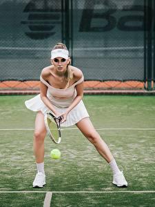 Bilder Tennis Bein Vorne Katrin Sarkozy, Anton Harisov Sport Mädchens