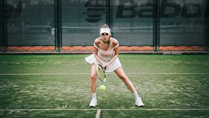 Bilder Tennis Bein Vorne Katrin Sarkozy, Anton Harisov Mädchens