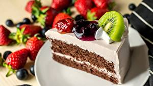 Bilder Torte Obst Stück Lebensmittel